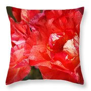 Red Rose With A Whisper Of Yellow  Throw Pillow