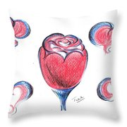 Red Rose- With Love  Throw Pillow
