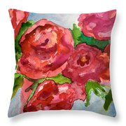 Red Roses, Red Roses Throw Pillow