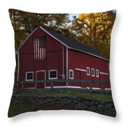 Red Rustic Barn Throw Pillow