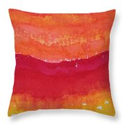 Red Saddle Original Painting Throw Pillow