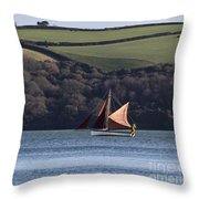Red Sails In Carrick Roads Throw Pillow