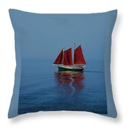 Red Sails On Superior Throw Pillow