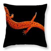 Red Salamander Throw Pillow