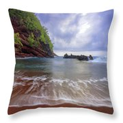 Red Sand Throw Pillow
