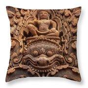 Red Sandstone Kala - Cambodia Throw Pillow