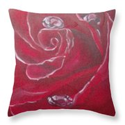 Red Throw Pillow by Saundra Johnson