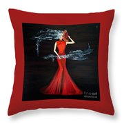Scented Red Color Throw Pillow