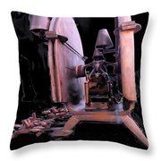 Red Sculpture Throw Pillow