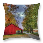 Red Shaker Carriage Barn Throw Pillow