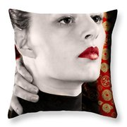 Red Shanghai Throw Pillow