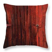 Red Shed Throw Pillow