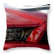 Red Shelby Throw Pillow