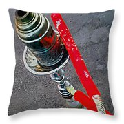 Red Shisha Throw Pillow