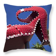 Red Shoe High Heels Throw Pillow by Garry Gay
