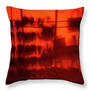 Red Shoes And Purses Throw Pillow