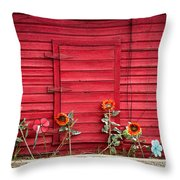 Red Sided Wall Throw Pillow