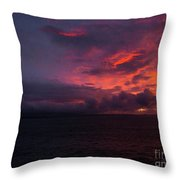 Red Skies At Night Hawaii Throw Pillow