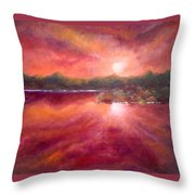 Red Skies At Night Throw Pillow