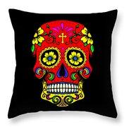 Red Skull Throw Pillow