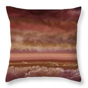 Red Sky At Night Sailor Delight Throw Pillow