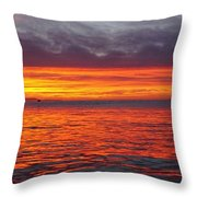 Red Sky In Morning, Sailor's Warning Throw Pillow