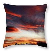 Red Sky Throw Pillow by Julian Perry