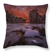 Red Sky, King Rock  Throw Pillow