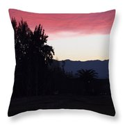 Red Sky Over The Andies Throw Pillow