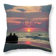 Red Sky Sun Rise Throw Pillow