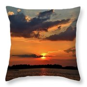 Red Sky Sunset Throw Pillow