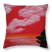 Red Sky1 Throw Pillow