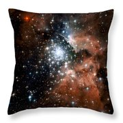 Red Smoke Star Cluster Throw Pillow