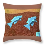Red Snapper Inlay Sunny Day Invert Throw Pillow