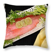 Red Snapper. Throw Pillow