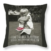Red Sneakers Quote Throw Pillow