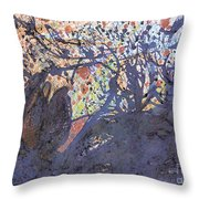 red snow, 19 March 2015 Throw Pillow