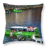 Red Sox On The Charles Throw Pillow