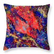 Red Space 15-13 Throw Pillow