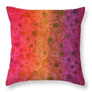 Red Sparkle Lace Throw Pillow