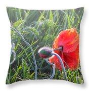 Red Sparkle Throw Pillow