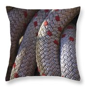 Red Speckled Rope Throw Pillow