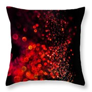 Red Spell Throw Pillow