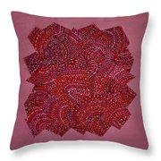 Red Spiral Throw Pillow