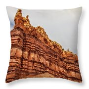 Red Spires Throw Pillow