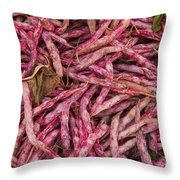 Red Spotted Pearly Beans Throw Pillow