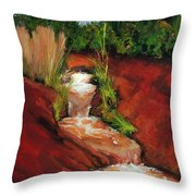 Red Spring Throw Pillow