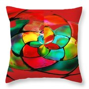 Red Stain Throw Pillow