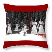 Red Stains - Self Portrait Throw Pillow