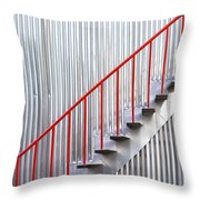 Red Staircase Throw Pillow